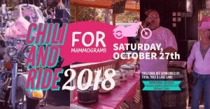 Chili and ride for mammograms 2018 facebook cover